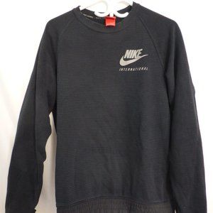 NIKE, small, long sleeve striped exercise shirt